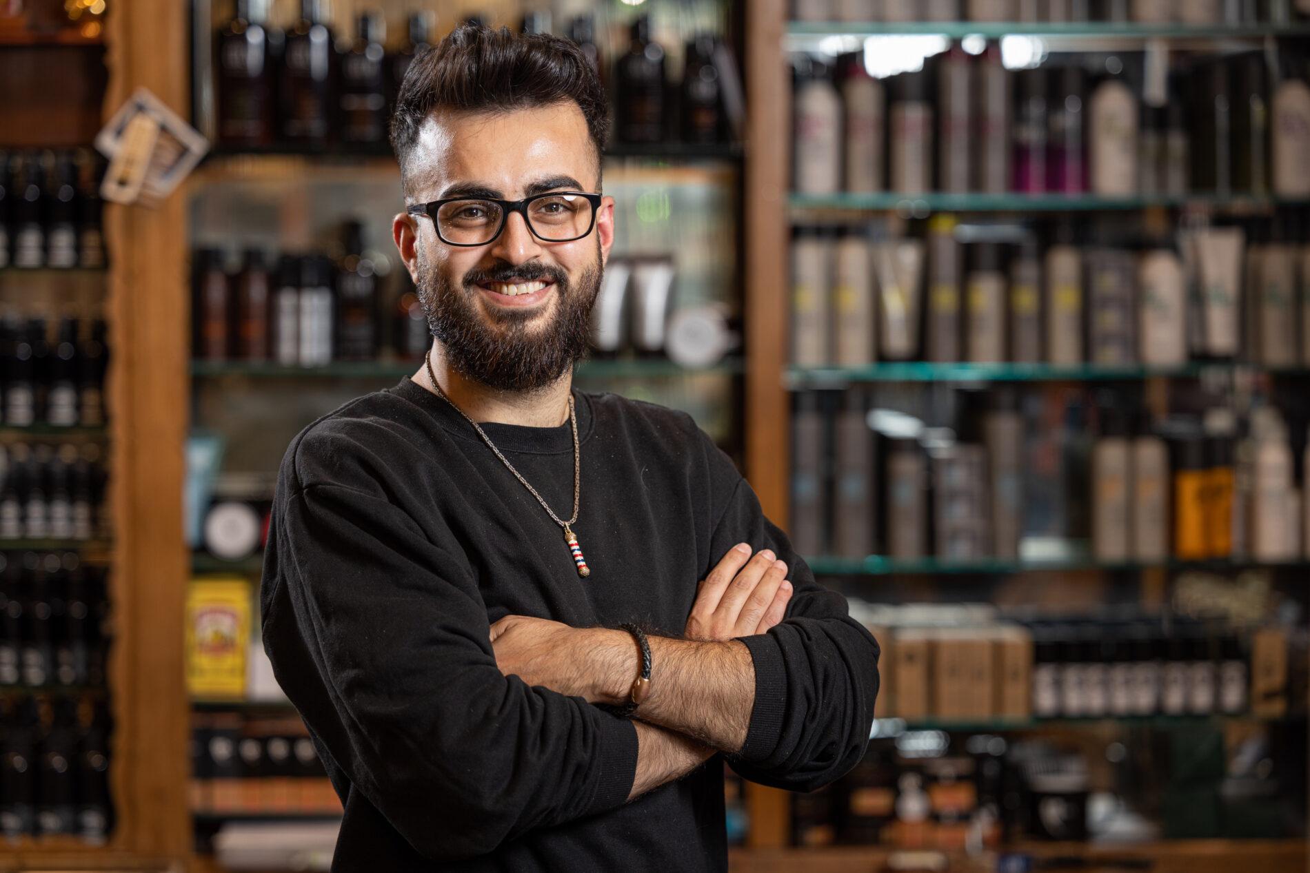 Mo Zaki bei Joe´s Barber Gentleemen´s Lounge